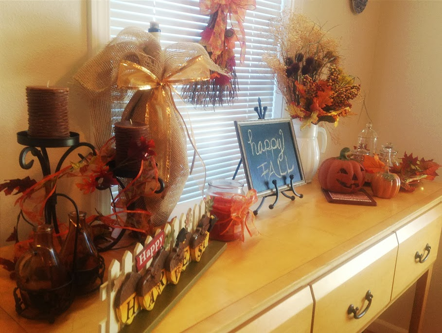Home On Walnut Street Buffet Table Decor Idea Fall Decor