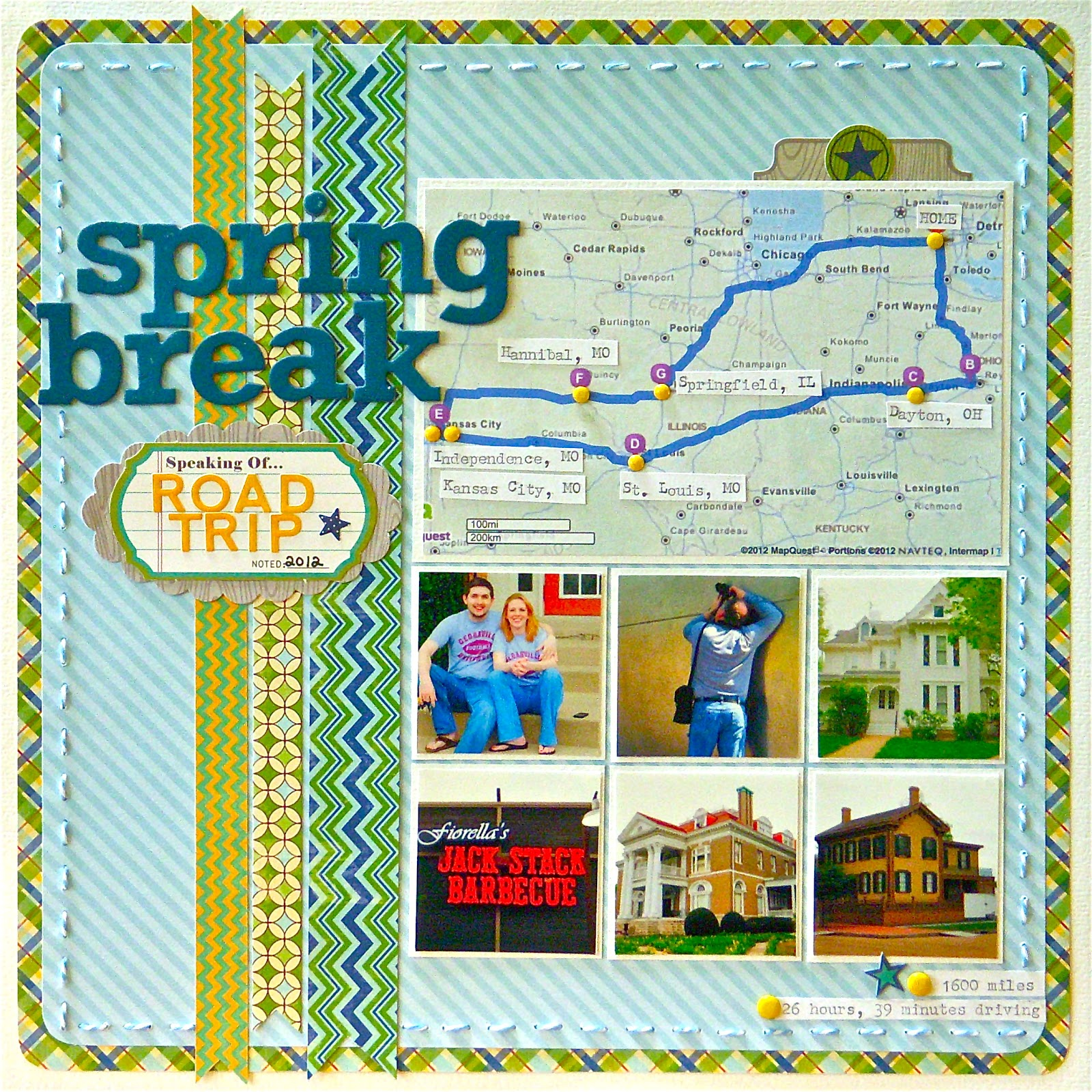 How to scrapbook a road trip - Monday August 13 2012