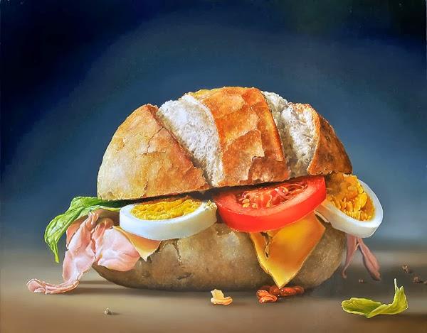 Art et glam: Peintre : Tjalf Sparnaay et sa nourriture hyperréaliste
