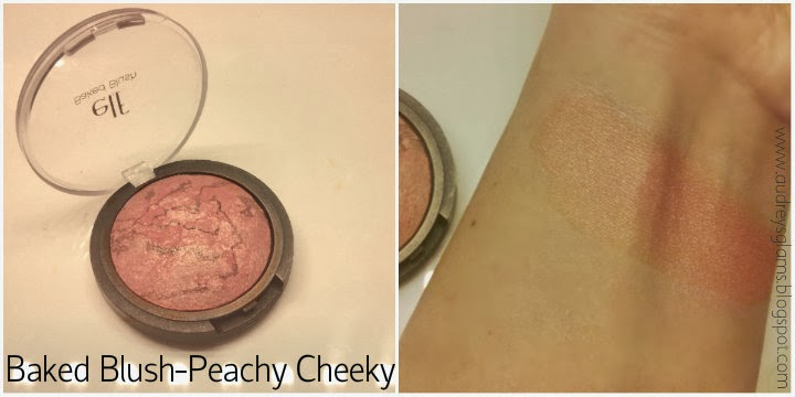 e.l.f. haul swatches review baked blush peachy cheeky