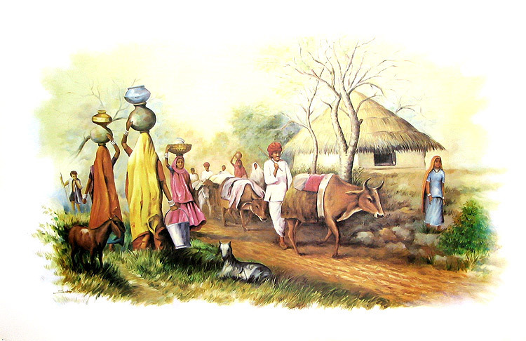Indian Village Paintings @ The - 132.6KB