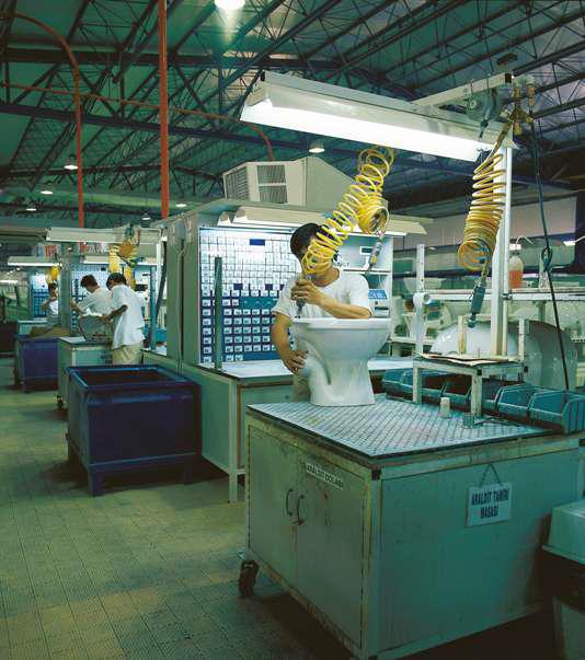 Проверка на заводе санфаянса Vitra