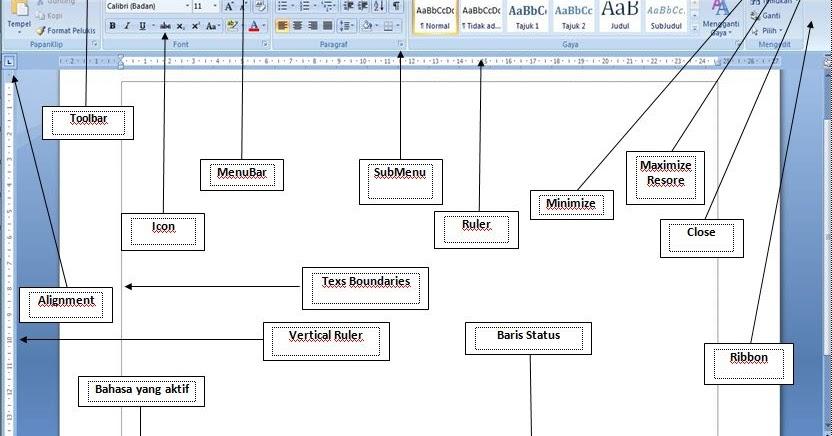 Awandiee Tampilan Dan Tata Letak Microsoft Word 2007