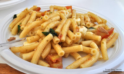 pâtes sauce tomate basilique fromage
