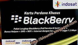 Kartu Perdana Blackberry Indosat