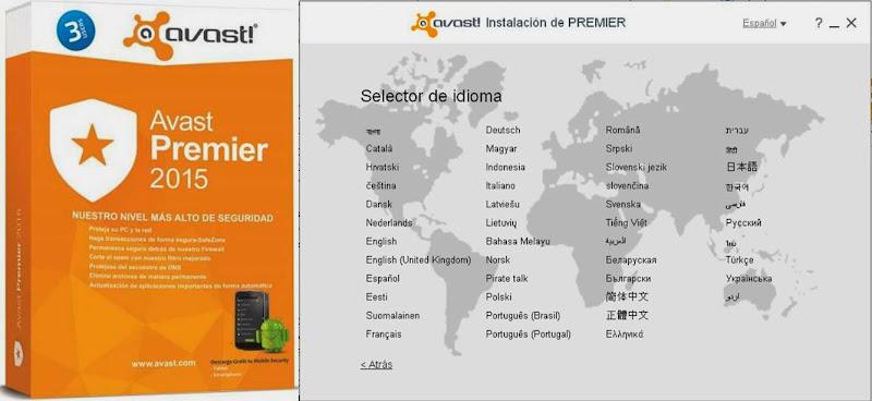 Avast PREMIER 2015 Antivirus v10.0.202 + Internet Security 2015 [+Licencia 2050] [Español, Ingles, Multi idiomas]