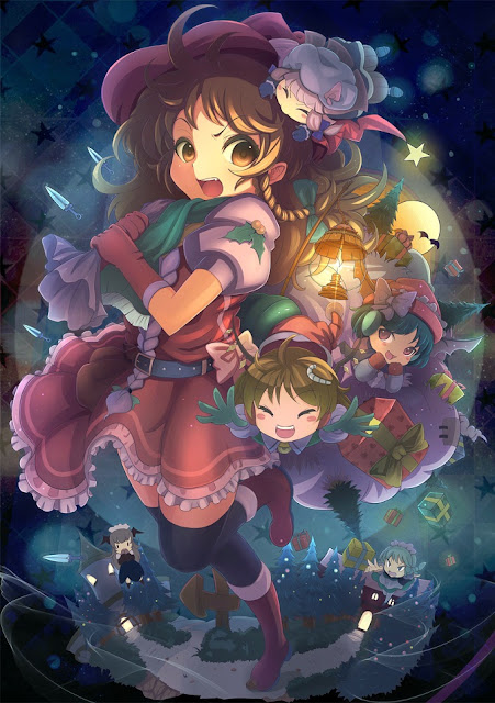 anime chibi, chibi Christmas, anime Christmas wallpaper