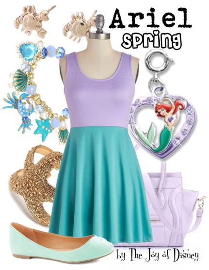 Disney fashion, disney outfits, little mermaid, ariel outfit, easter outfit, spring fashion