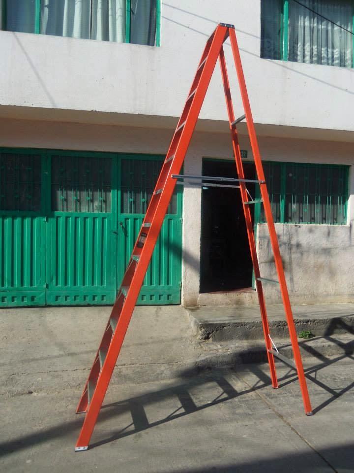 Escalera tipo tijera en fibra de vidrio for Escalera tipo u