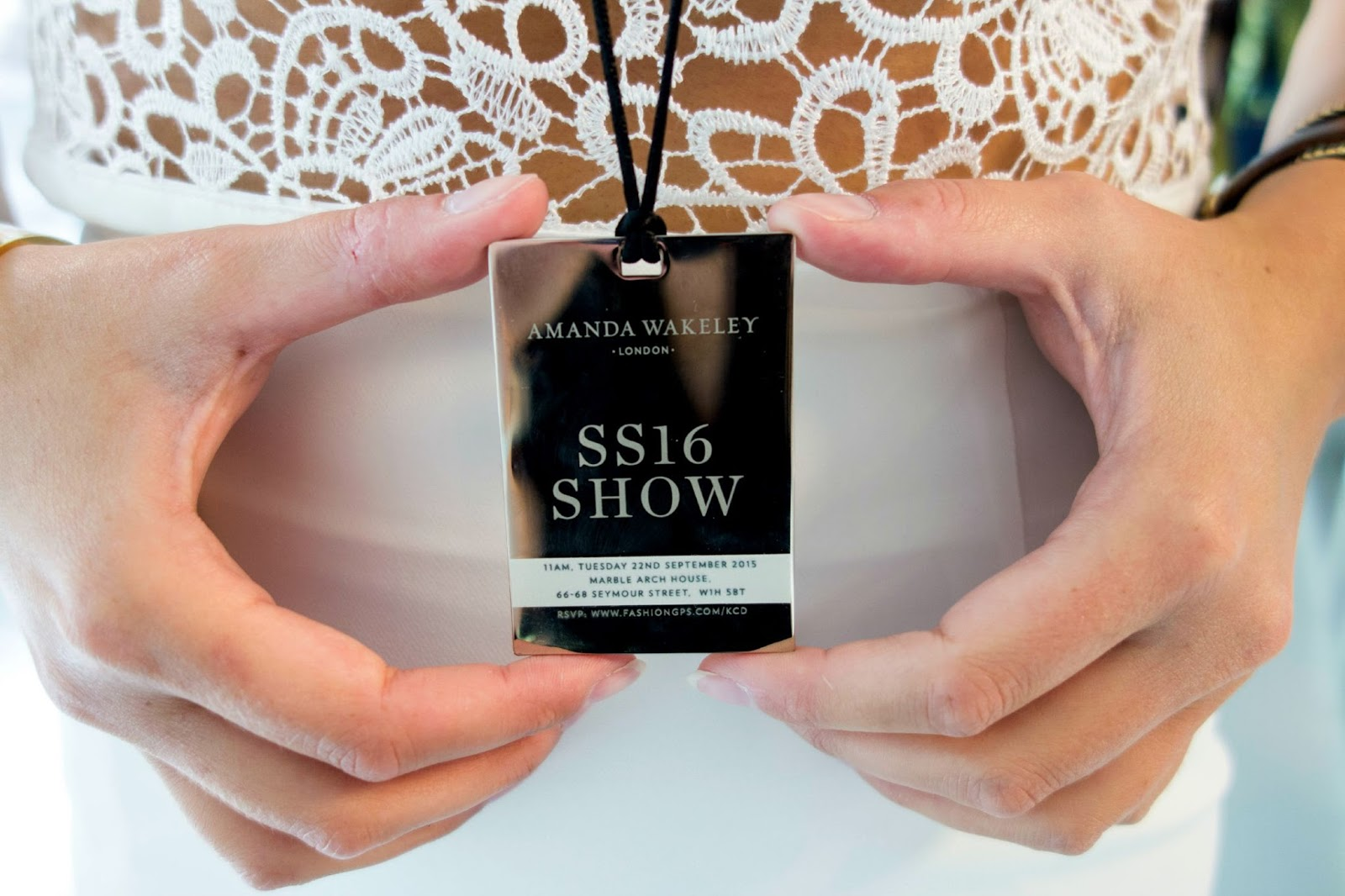 Amanda Wakeley Invitation Fashion Show