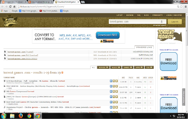 KickassTorrents - Download torrents from Kickass Torrents