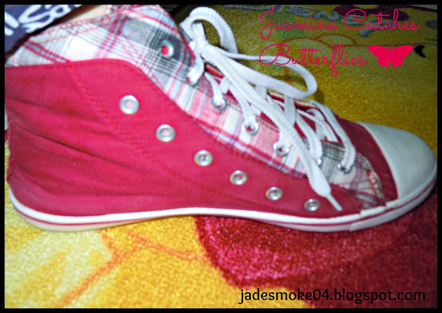 Red Check Sneakers