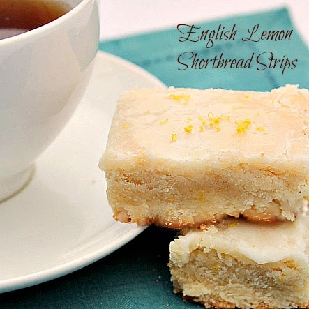 English Lemon Shortbread Cookies