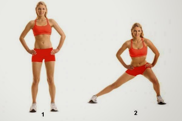 Side-Walking Lunges for Toned and sexy bum