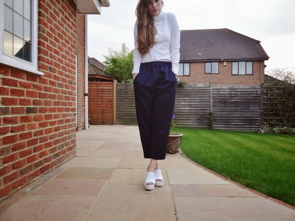 ASOS scuba peg trousers