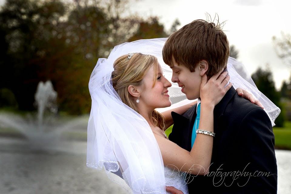 Bride and Groom at Rock Creek Golf Club
