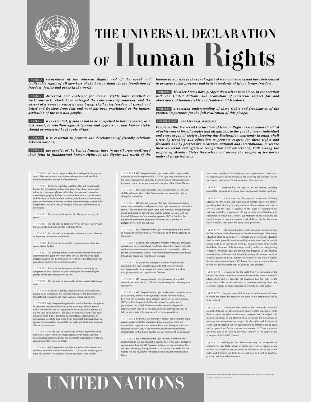 Dichiarazione Diritti Umani