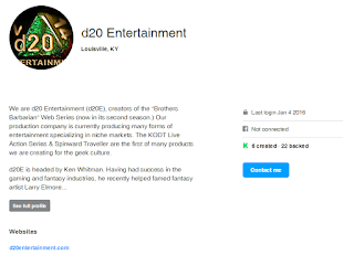 D20 Entertainment Login on January 4, 2016