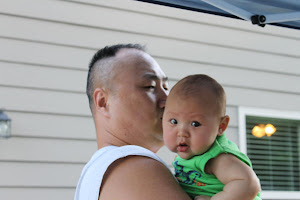 daddy with his little man