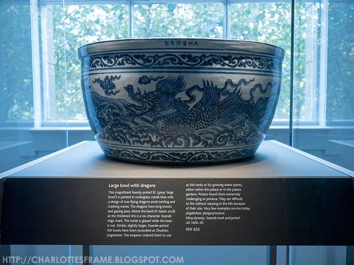 British Museum Large Bowl with dragons