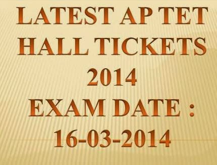 16 March 2014 APTET 2014 Examination Re Download AP TET Hall Tickets 2014 at www.aptet.cgg.gov.in