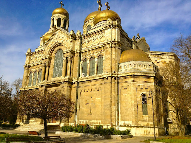 Picture of Varna Cathedral Bulgaria.