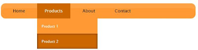 Orange CSS3 Drop Down Menu