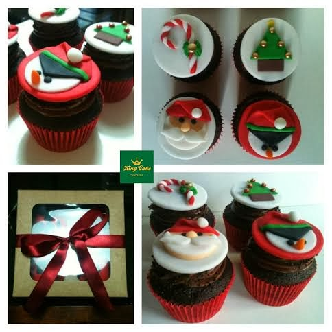 King Cake: Cupcakes de Natal