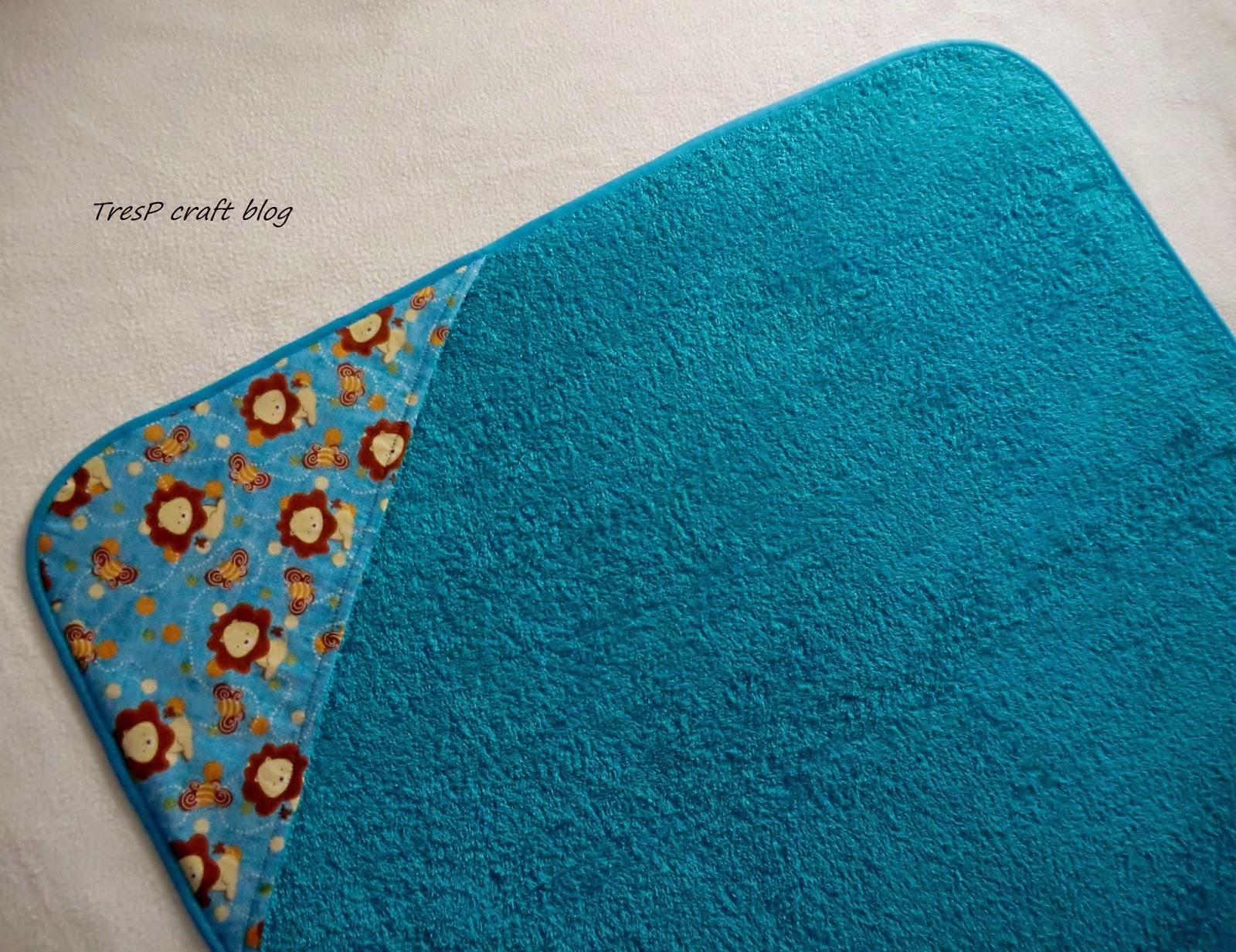 Tresp craft blog patr n y tutorial de toalla con capucha - Como hacer un cambiador para bebes ...