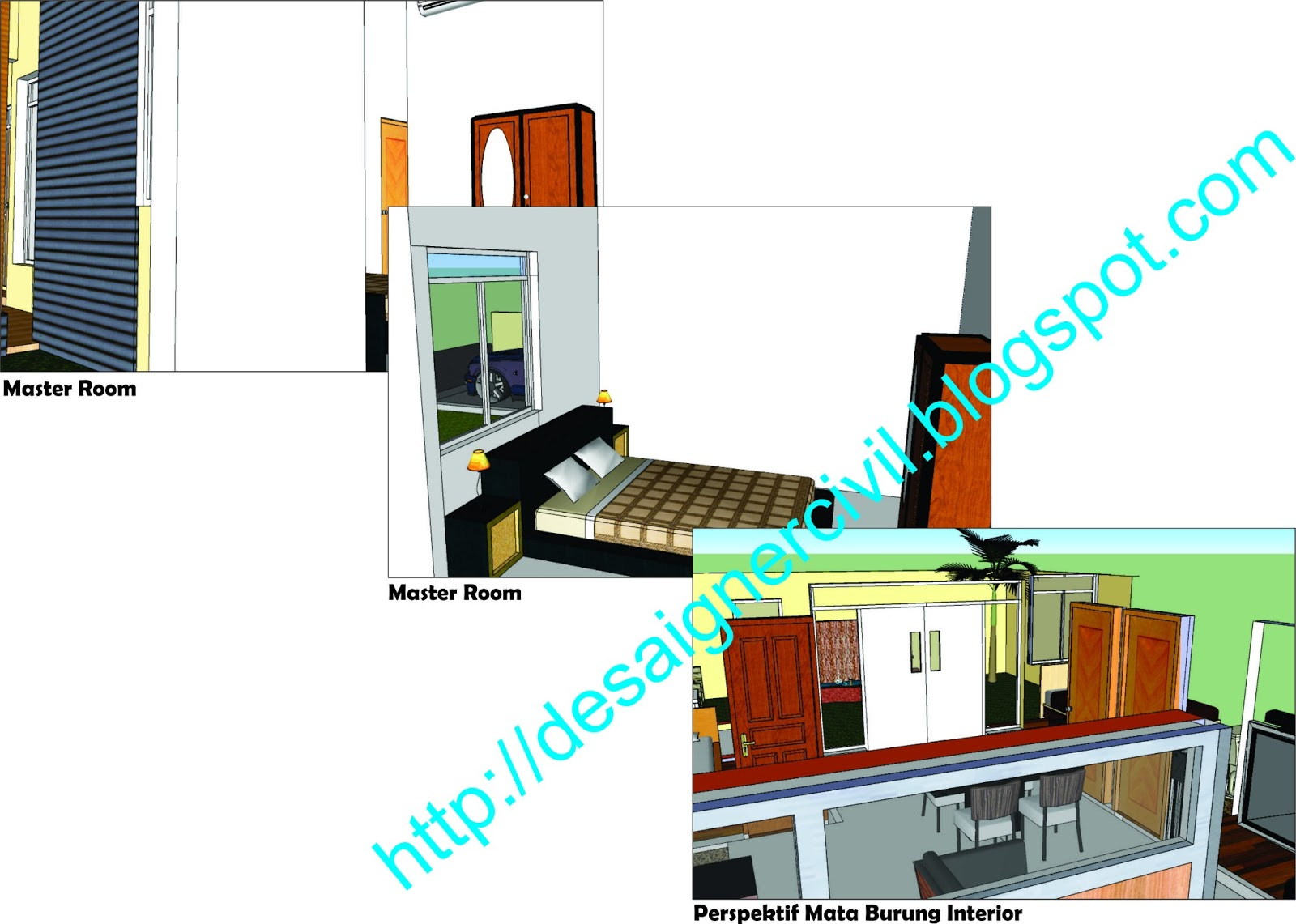 designer civil rumah tinggal type 65