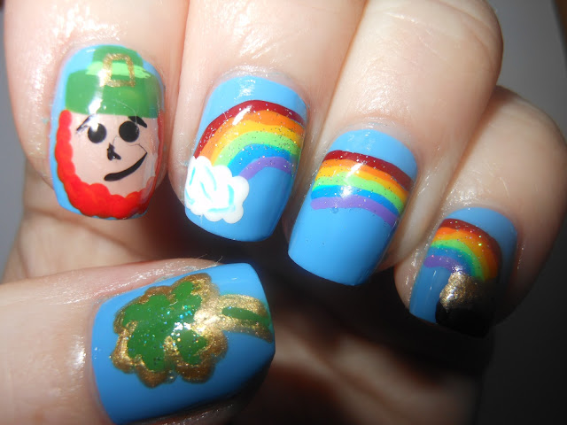 Nevorpurify s nail art for st patty s day