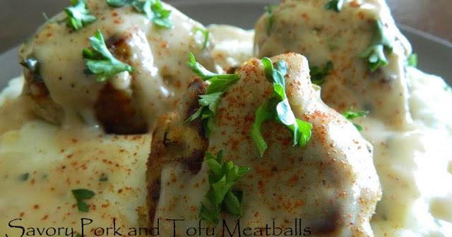 My Favorite Things: Low Fat Savory Pork and Tofu Meatballs ...