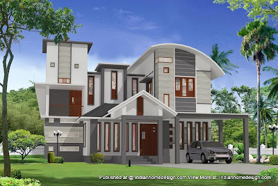 Modern Home Design Plans on Modern Contemporary Villa Design   2000 Sq Ft Plan   Home Design