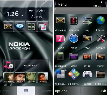 awesome nokia theme for nokia 5800 phone and other s60 v5 edition