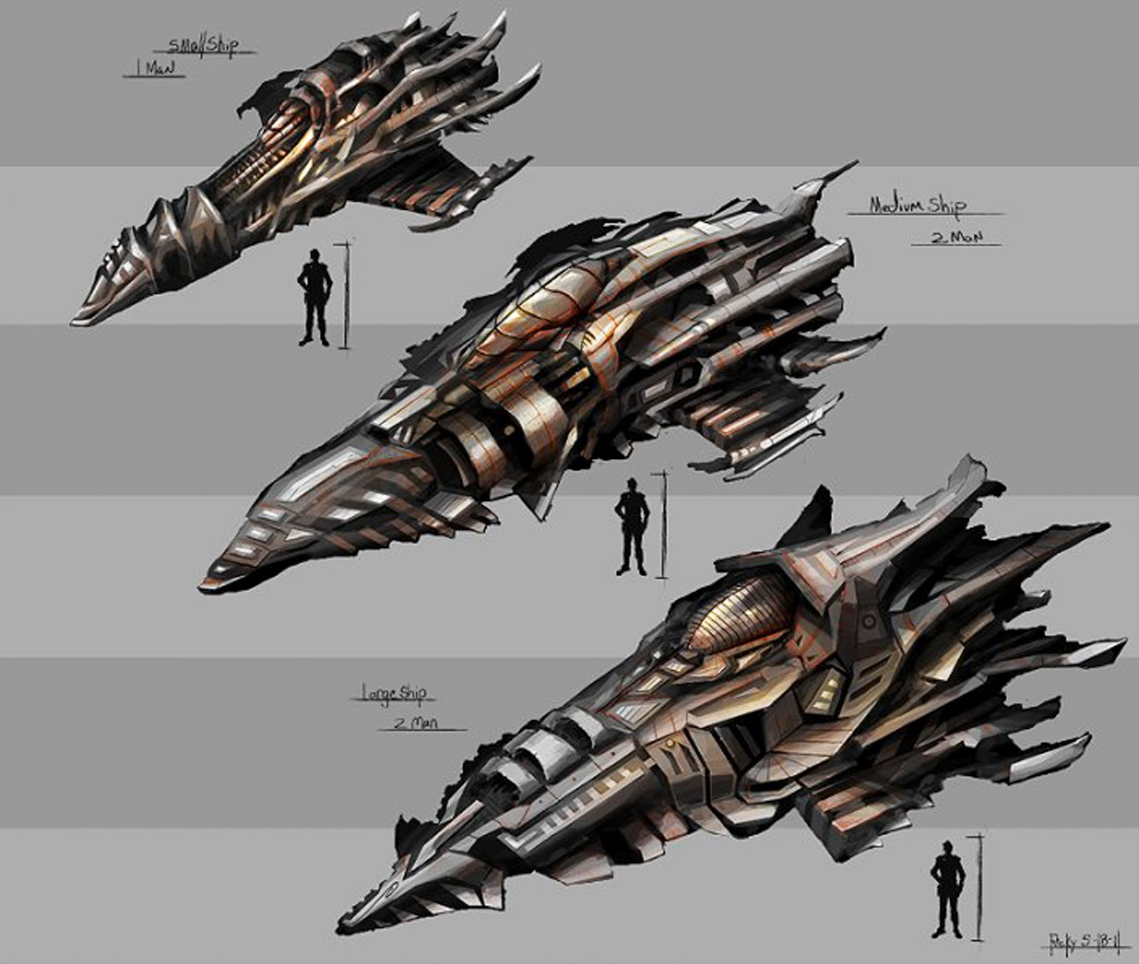 Alien spacecraft concept pics about space for Space art design