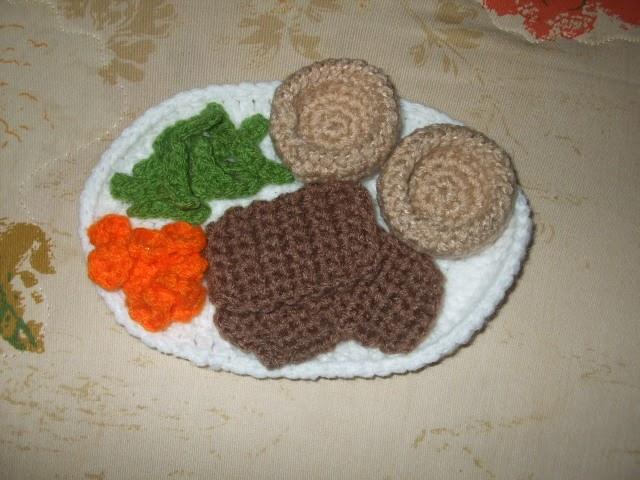 Amigurumi Patterns Free Food : 2000 Free Amigurumi Patterns: Free Roast Beef Dinner ...