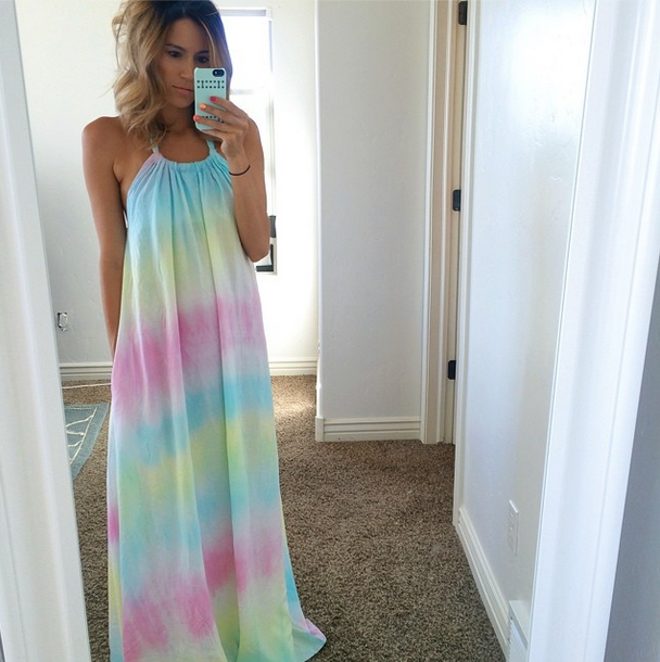 Splendid tie dye maxi dress