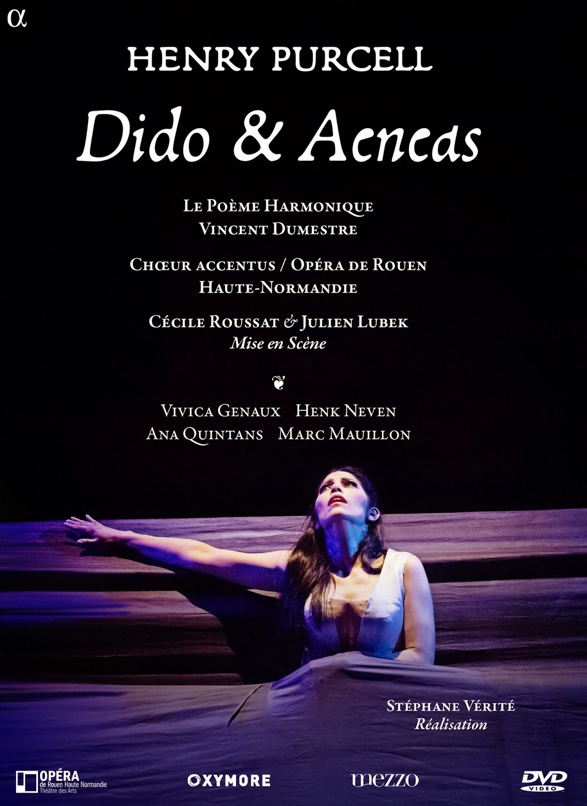 Vivica on DVD and Blu-ray: Purcell's DIDO AND AENEAS (ALPHA 706)