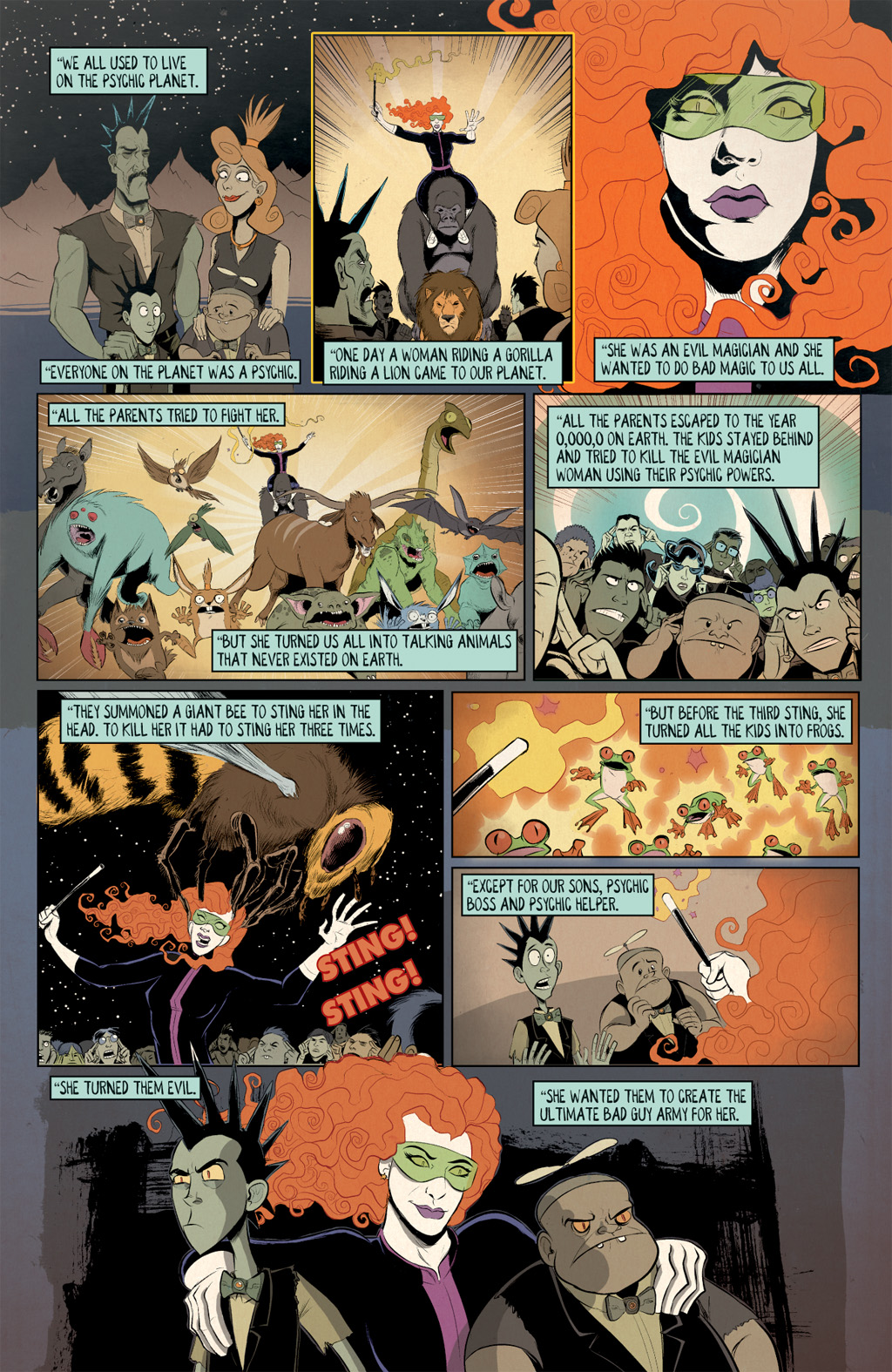 Read online Axe Cop: Bad Guy Earth comic -  Issue #3 - 4