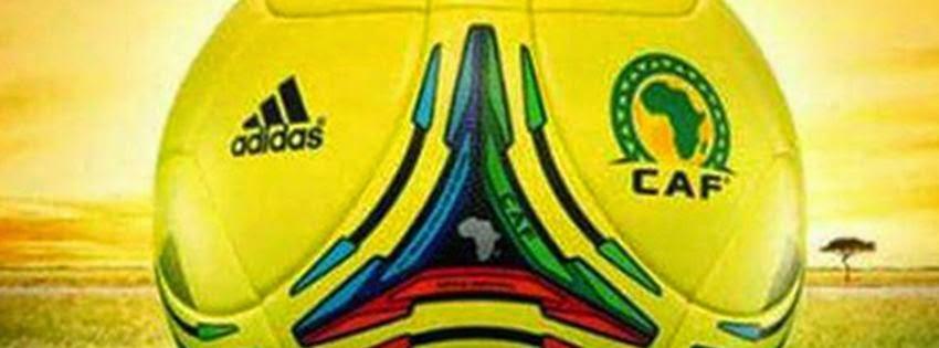 Couverture facebook ballon coupe d'afrique