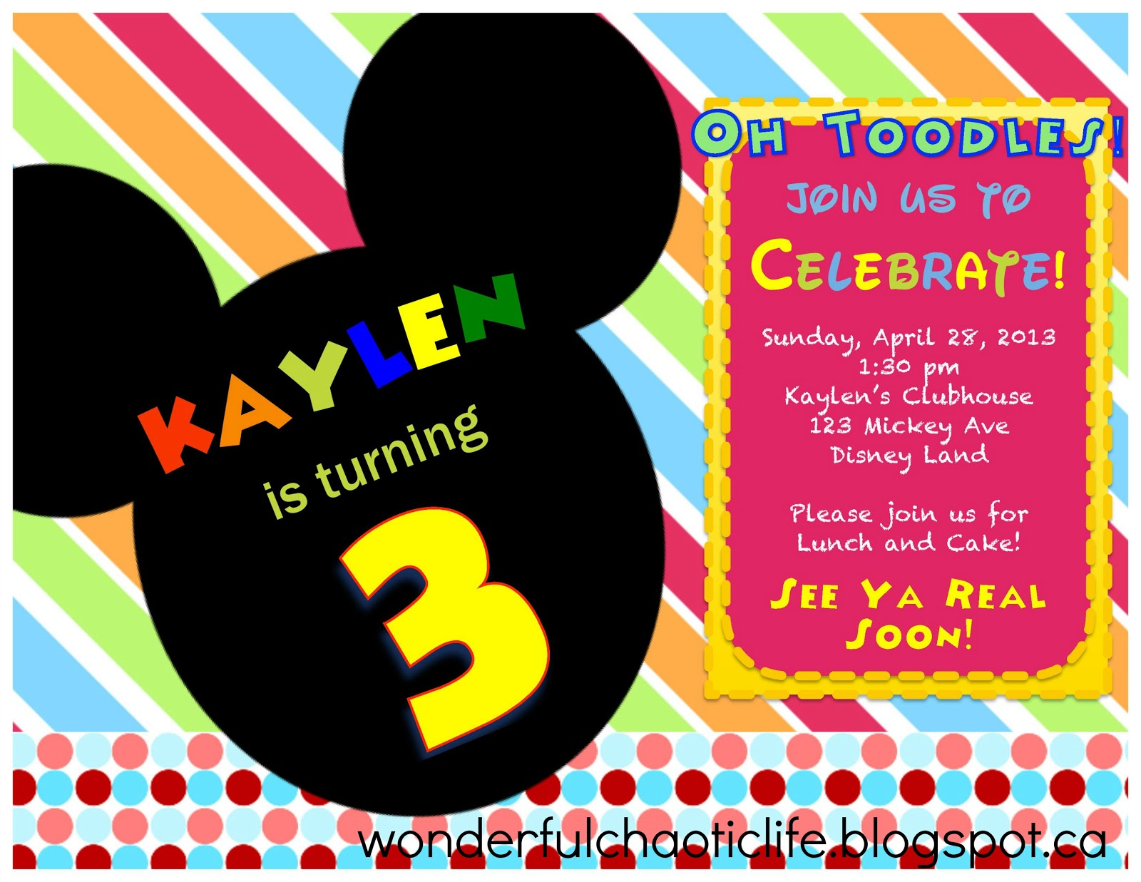 It's My Wonderful Chaotic Life: Mickey Mouse 3rd Birthday ...