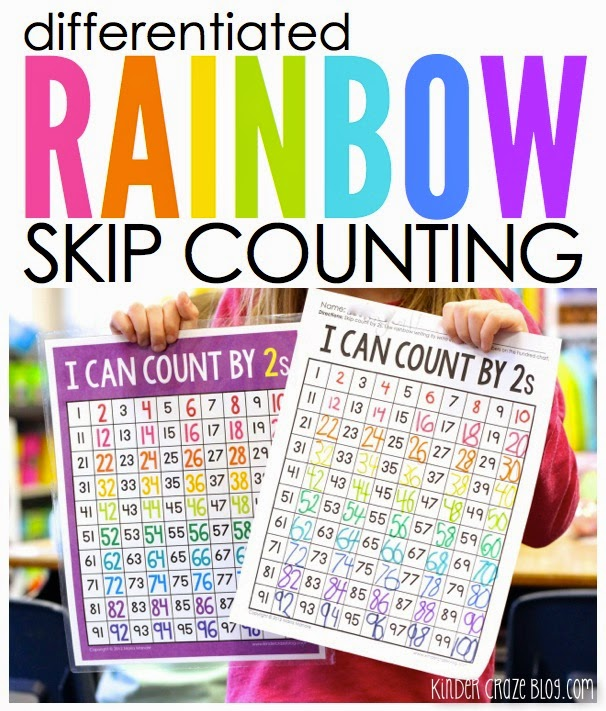 Differentiated Rainbow Skip Count Practice