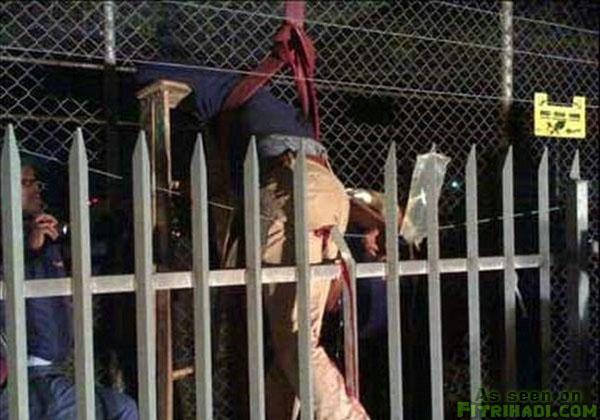 pencuri kantoi kena sula pagar
