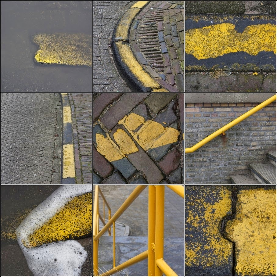 yellow sidewalks