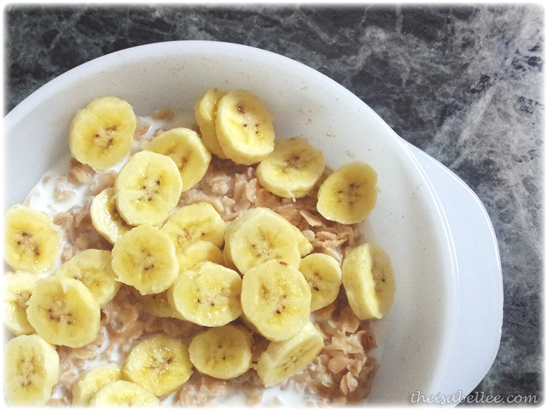 Oats with banana