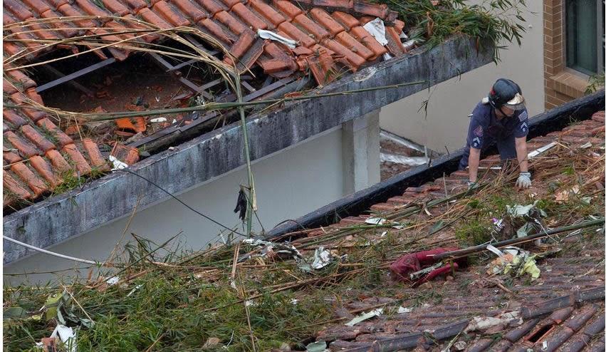 Foto do local do acidente com avião de Eduardo Campos em Santos - SP