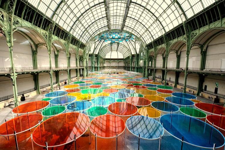Expo daniel buren excentrique s travail in situ dans le cadre de monumenta 2012 jusqu 39 au - Expo le grand palais ...