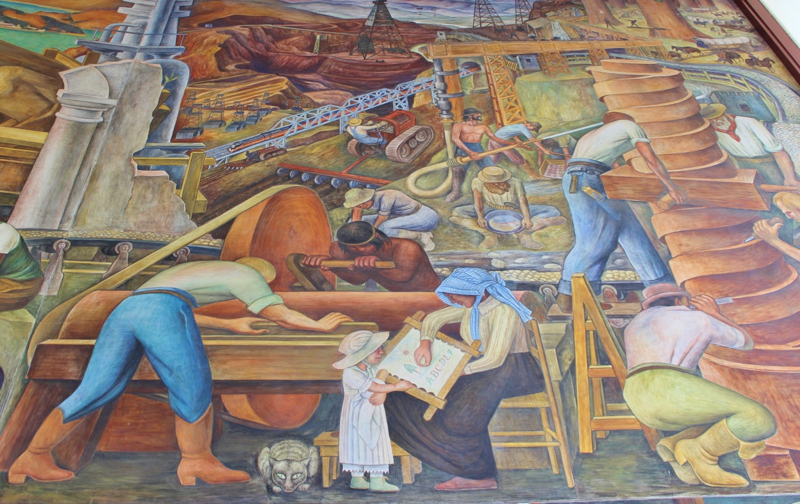 Bay area arts diego rivera 39 s pan american unity mural for Diego rivera mural san francisco