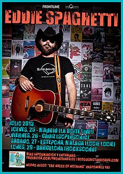 Eddie Spaghetti (Supersuckers) en Madrid, Barcelona, Málaga y Cádiz en Julio