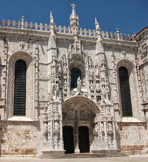 Mosteiro dos Jeronimos met Aedicula, klooster, Santa Maria de Belém, Portugal
